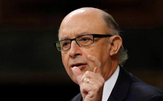 El ministro de Hacienda, Cristóbal Montoro, el pasado 22 de noviembre...