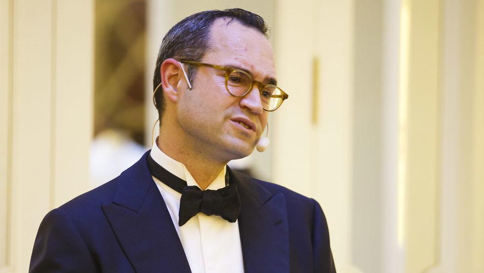 José María López-Galiacho, durante una charla que dio junto a Fuera...