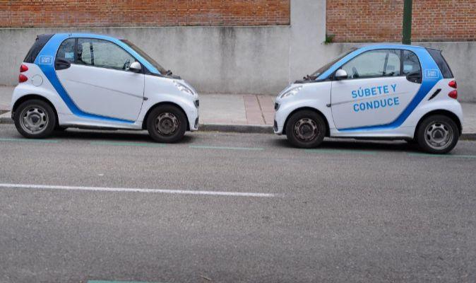 Dos Smart Fortwo de Car2Go en Madrid.