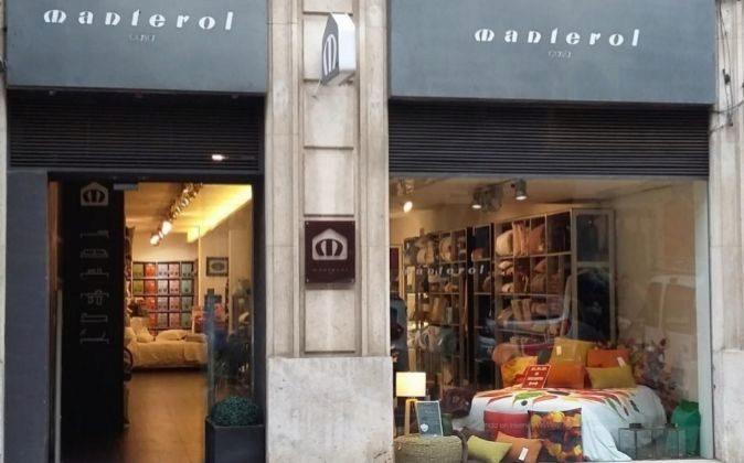 Tienda de Manterol en el centro de Valencia.