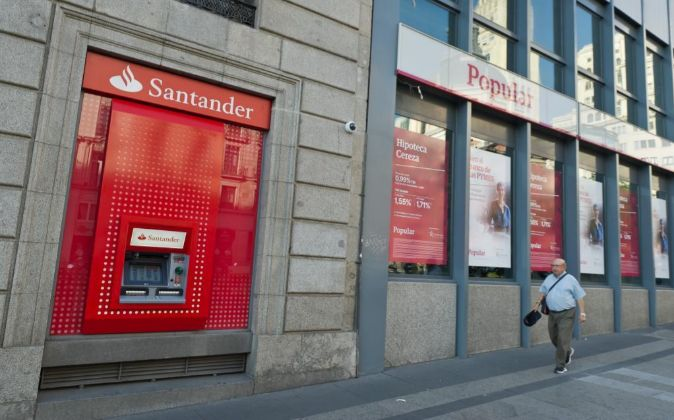 Oficinas de Santander y Popular.