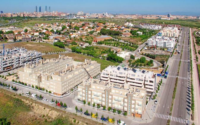 Vista panorámica de Valdebebas, en la zona norte de la cuidad.