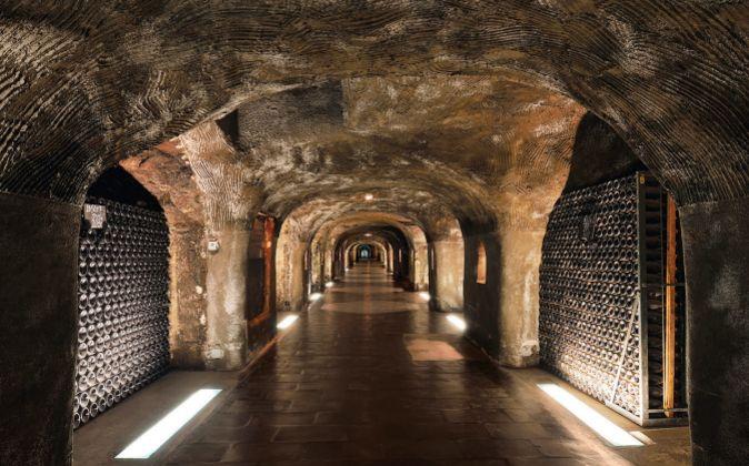 Un tramo de los 29 kilómetros de túneles y bóvedas excavadas a 20...