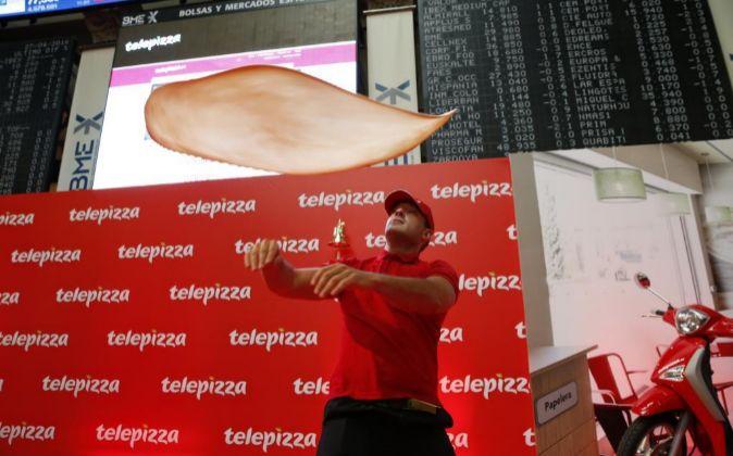 Imagen de la salida a Bolsa de Telepizza