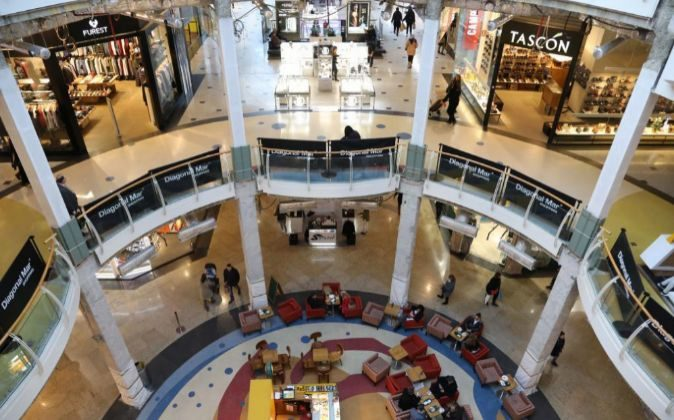 Centro comercial en Barcelona.