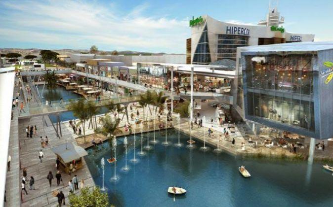 El centro comercial Puerto Venecia, en Zaragoza.