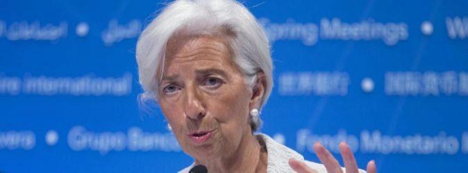 La directora gerente del Fondo Monetario Internacional (FMI),...