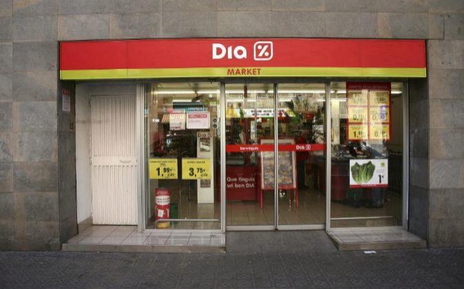 Supermercado Dia en Barcelona.