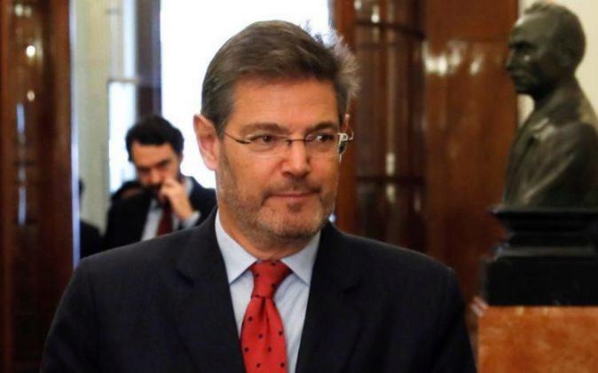 El ministro de Justicia Rafael Catalá, a su llegada al pleno del...