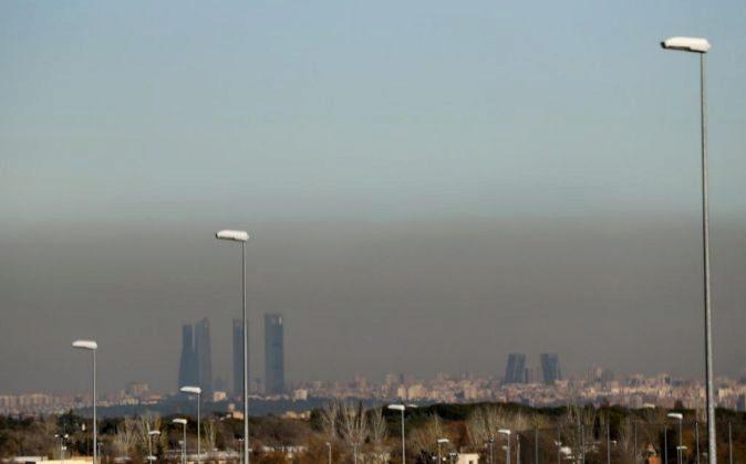 Vista de la capa de contaminación que cubre Madrid estos días.