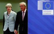 El presidente de la Comisión Europea, Jean-Claude Juncker, y la...