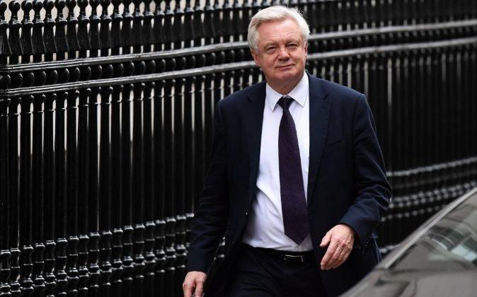 El ministro para el Brexit David Davis.