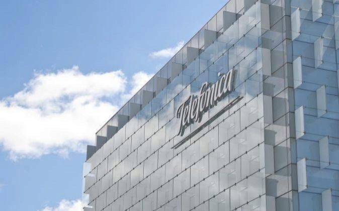 Imagen de la sede de Telefónica en Madrid
