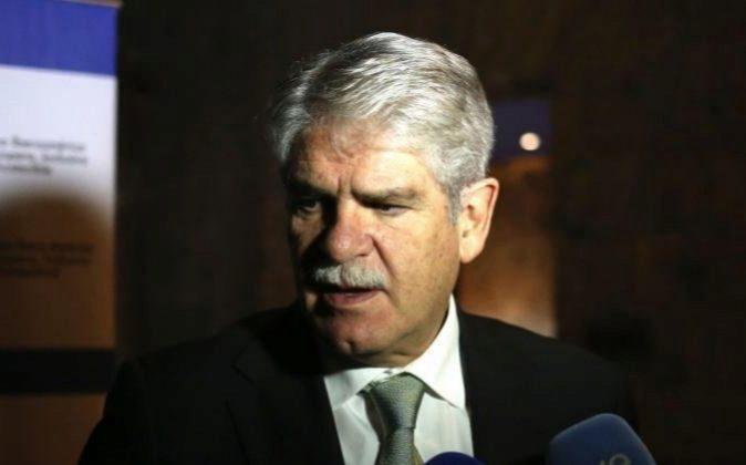 El ministro de Asuntos Exteriores y Cooperación de España, Alfonso...