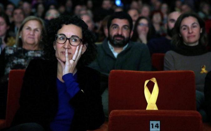 La secretaria general de ERC y número dos en la lista, Marta Rovira,...