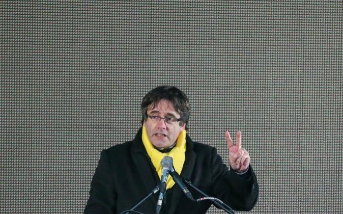 El expresidente de la Generalitat Carles Puigdemont, el pasado 7 de...