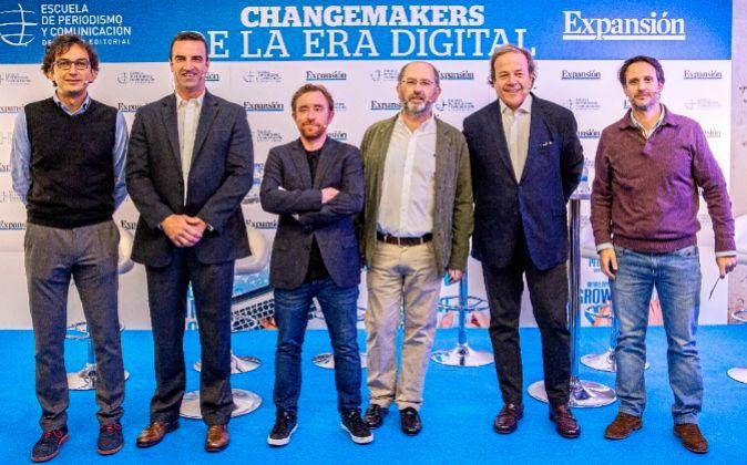 De izquierda a derecha: Rodrigo Miranda, socio y director general de...