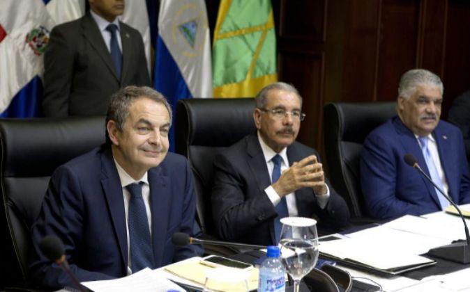 El expresidente del gobierno español José Luis Rodríguez Zapatero,...