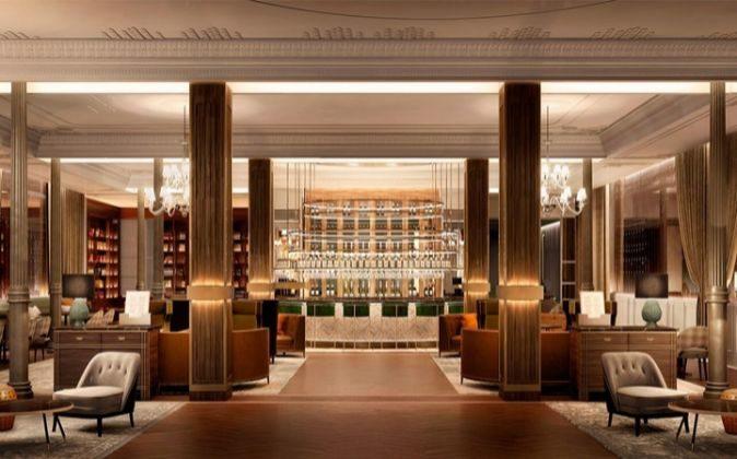 Hall de entrada del nuevo Gran Hotel Inglés