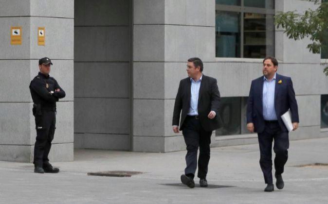 El vicepresidente cesado de la Generalitat de Cataluña, Oriol...