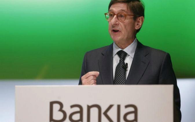 José Ignacio Goirigolzarri, presidente de Bankia, durante la última...