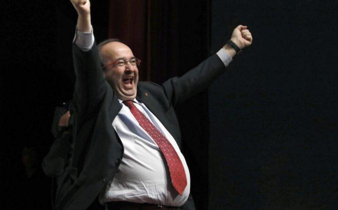 El candidato del PSC a la presidencia de la Generalitat, Miquel Iceta,...