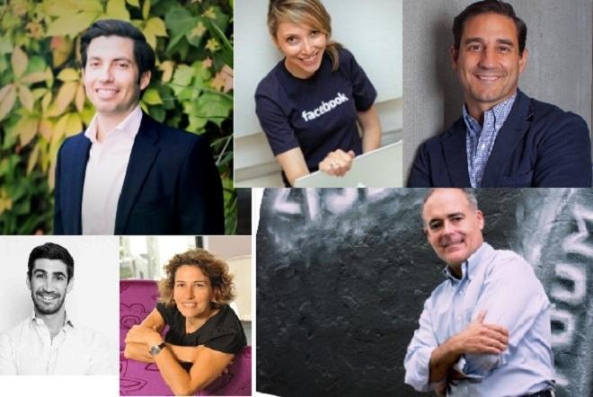 De izq. a dcha. y de arriba abajo, Armando Baquero (Santander Wealth...
