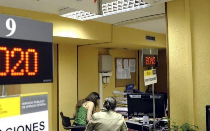 El interior de una oficina de empleo de Valladolid.