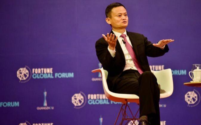 Foto cedida por el Foro Fortune Global que muestra al presidente del...