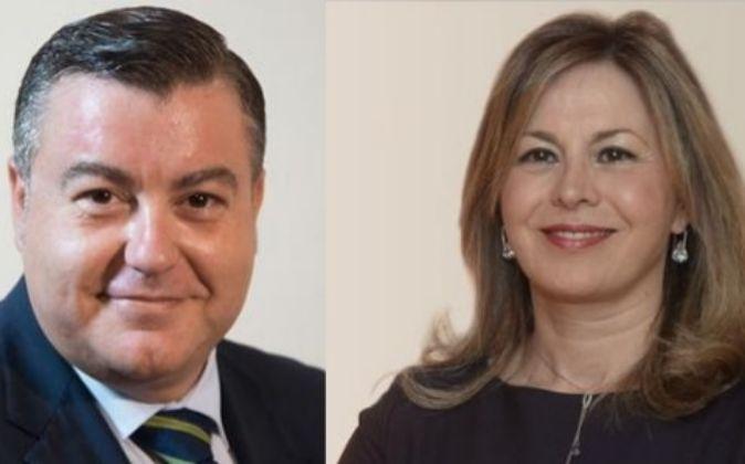 Jaime Casas, director territorial en Valencia y Castellón, y Olga...
