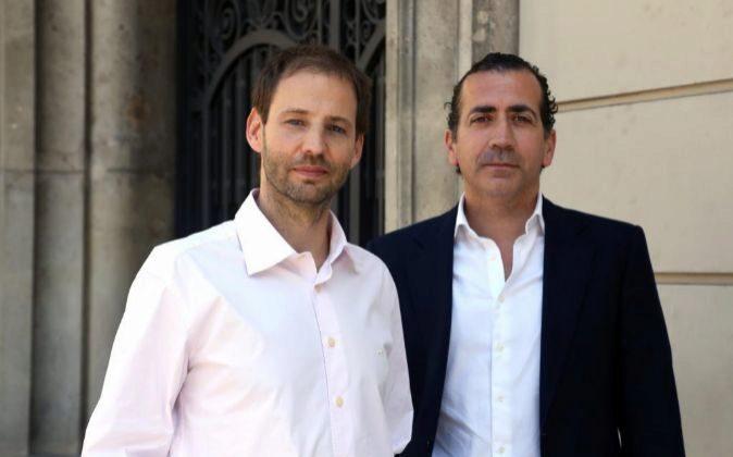 Sergi Pallares y Javier Villacampa de StockCrowd.