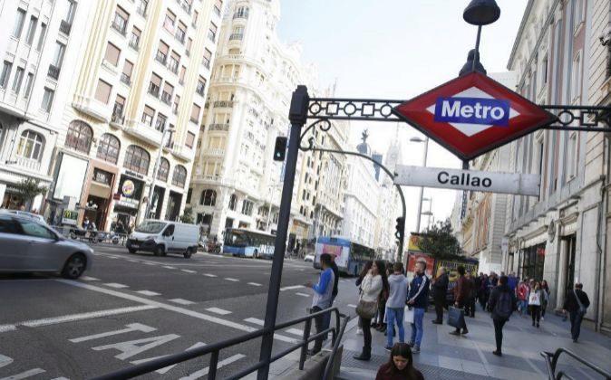 Metro de Callao en la madrileña Calle Gran Via.