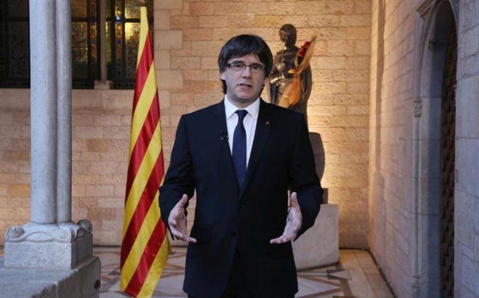 Carles Puigdemont, presidente de la Generalitat cesado