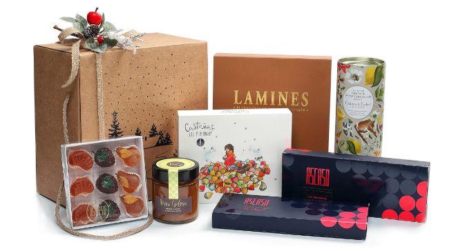 Imagen de una cesta de Navidad de Ascaso diseñada con inteligencia...