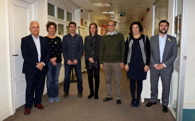 Santi Rodríguez (PP), Maria Ballester (CUP), Marc Parés (Catalunya...