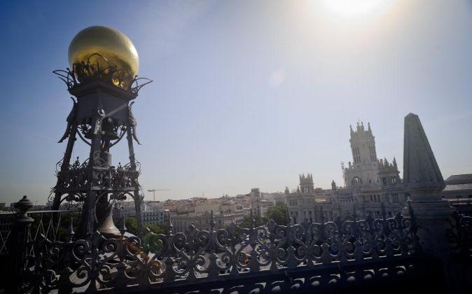 Vista de la sede del Banco de España en Madrid.