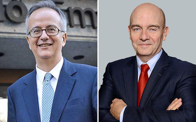 A la izquierda, Simón Pedro Barceló, copresidente de Grupo Barceló,...