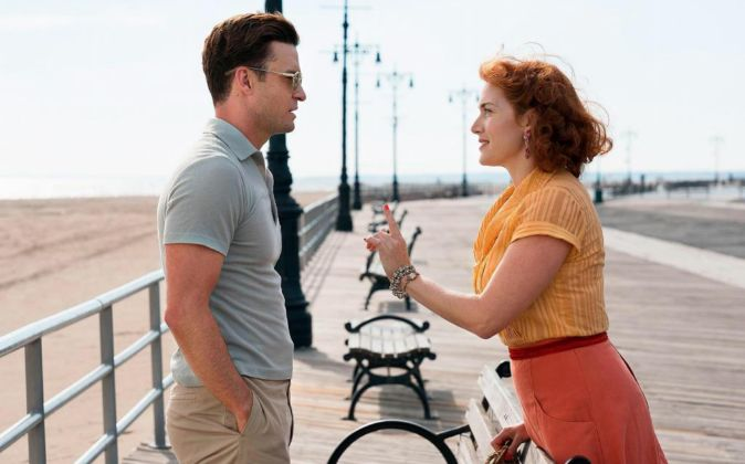 Justin Timberlake (Mickey) y Kate Winslet (Ginny), protagonistas de...