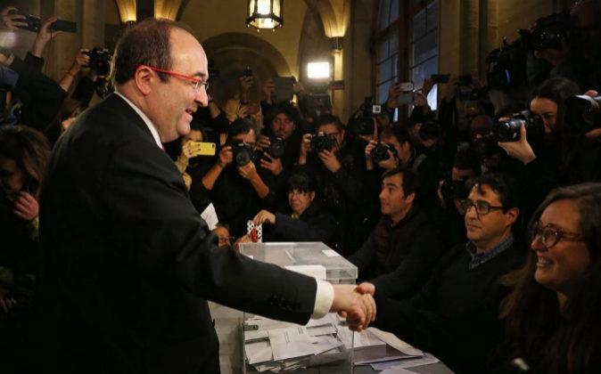Miquel Iceta, cabeza de lista del PSC.