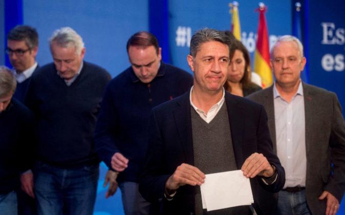 El candidato del PP catalán, Xavier García Albiol.