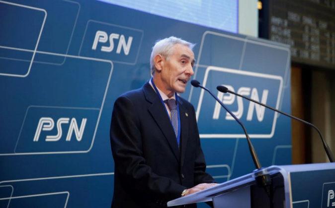 El secretario del Consejo del la mutua PSN, Esteban Imaz, durante su...