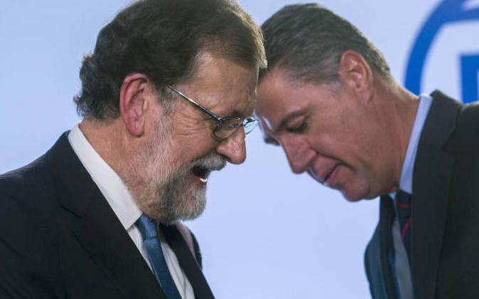 Mariano Rajoy y Xabier García Albiol.