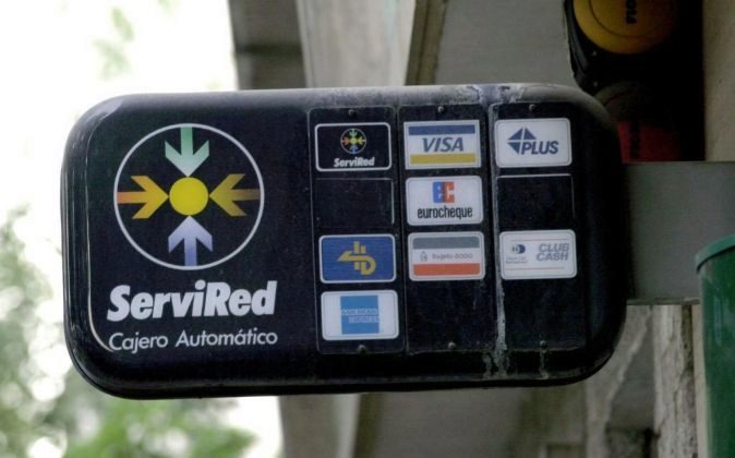 Cajero automático de Servired en Madrid.