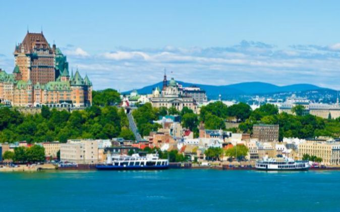 Vista panorámica de Quebec (Canadá).