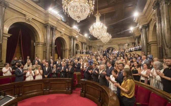 Imagen del Parlament de Cataluña de agosto.