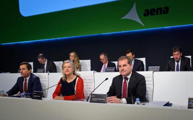 Imagen de archivo de la última junta de accionistas de Aena.