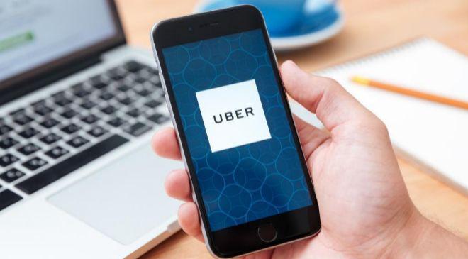 Aplicación de Uber en un móvil.