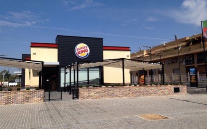 Exterior de un Burger King