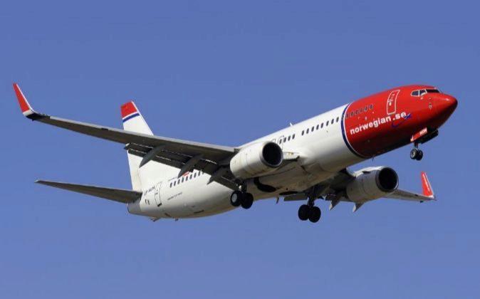Imagen de un avión de Norwegian Air Shuttle