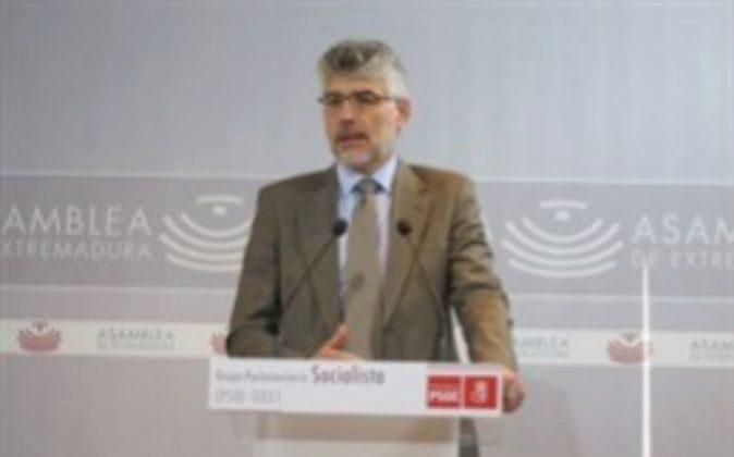Valentín García,  portavoz del Grupo Parlamentario Socialista en la...
